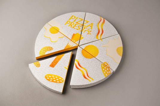 Presto pizza branding
