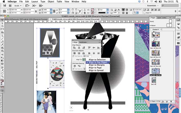 Adobe InDesign CS6: Align Key Object