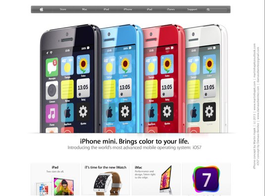 iPhone Mini running iOS 7 2