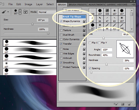 Custom Photoshop brushes