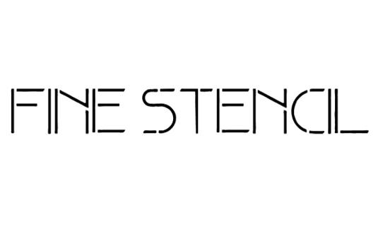Free stencil fonts: Fine Stencil
