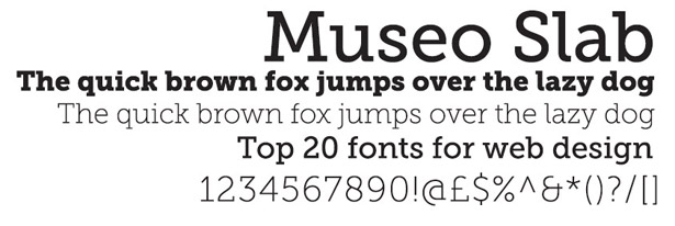 Web fonts: Museo Slab