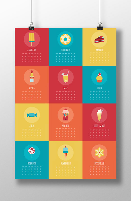 Illustration Calendar Design : Amazing calendar designs for creative bloq
