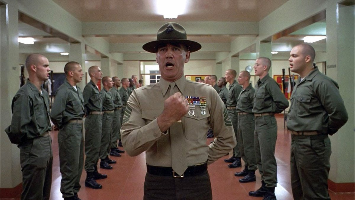 A still from the movie Full Metal Jacket
