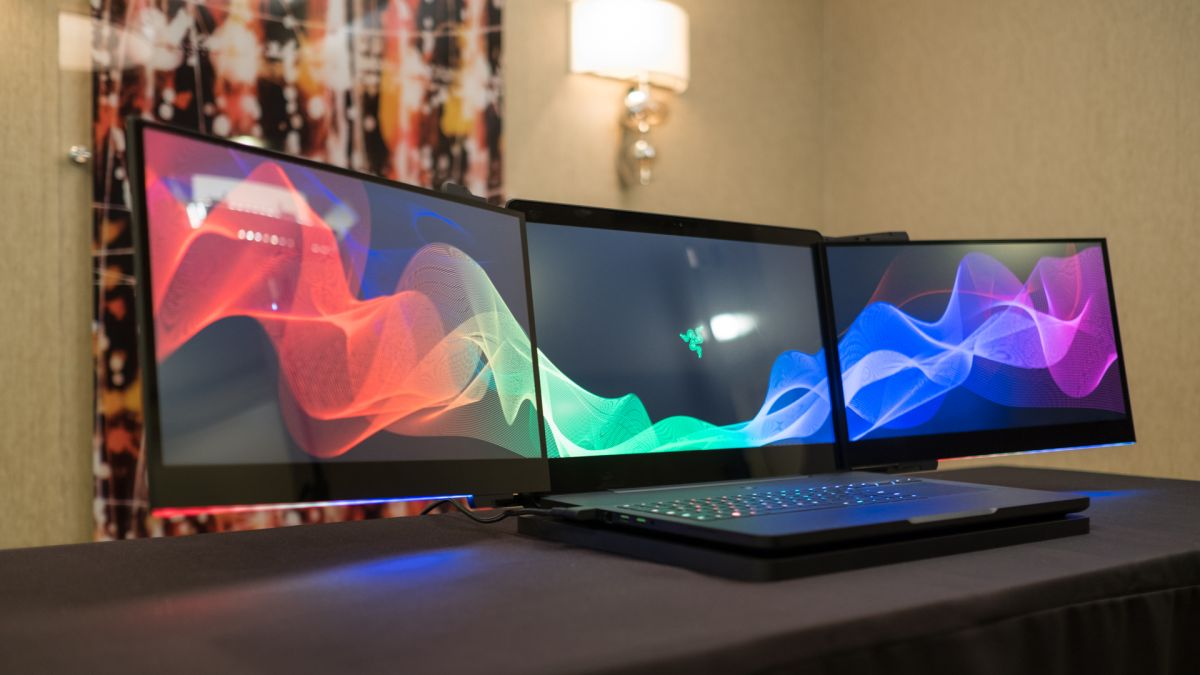 Is three screens on one laptop too many? | TechRadar