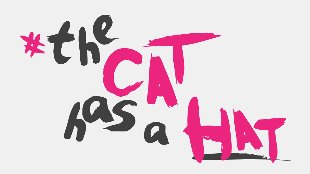 The Cat has a Hat font