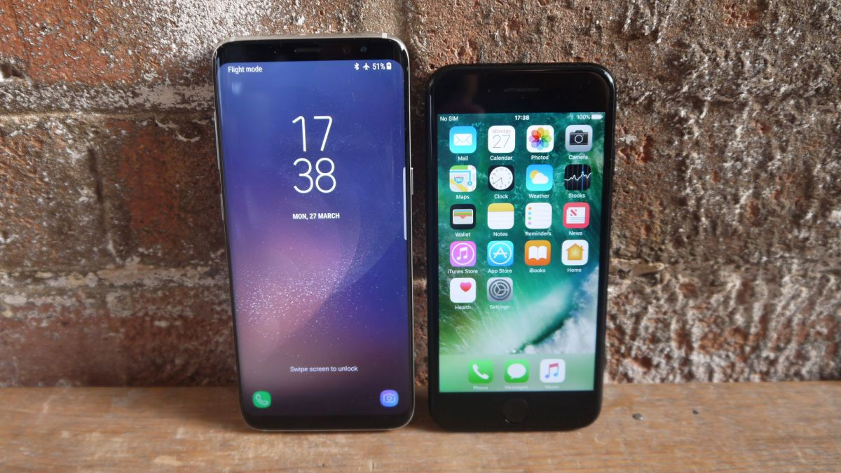 s8+ vs iphone 7