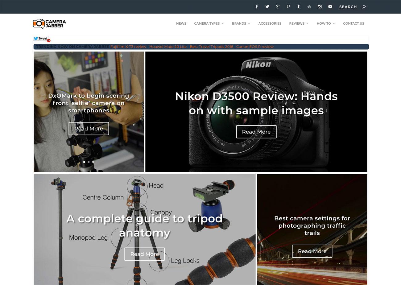 Photography Websites: Camera Jabber