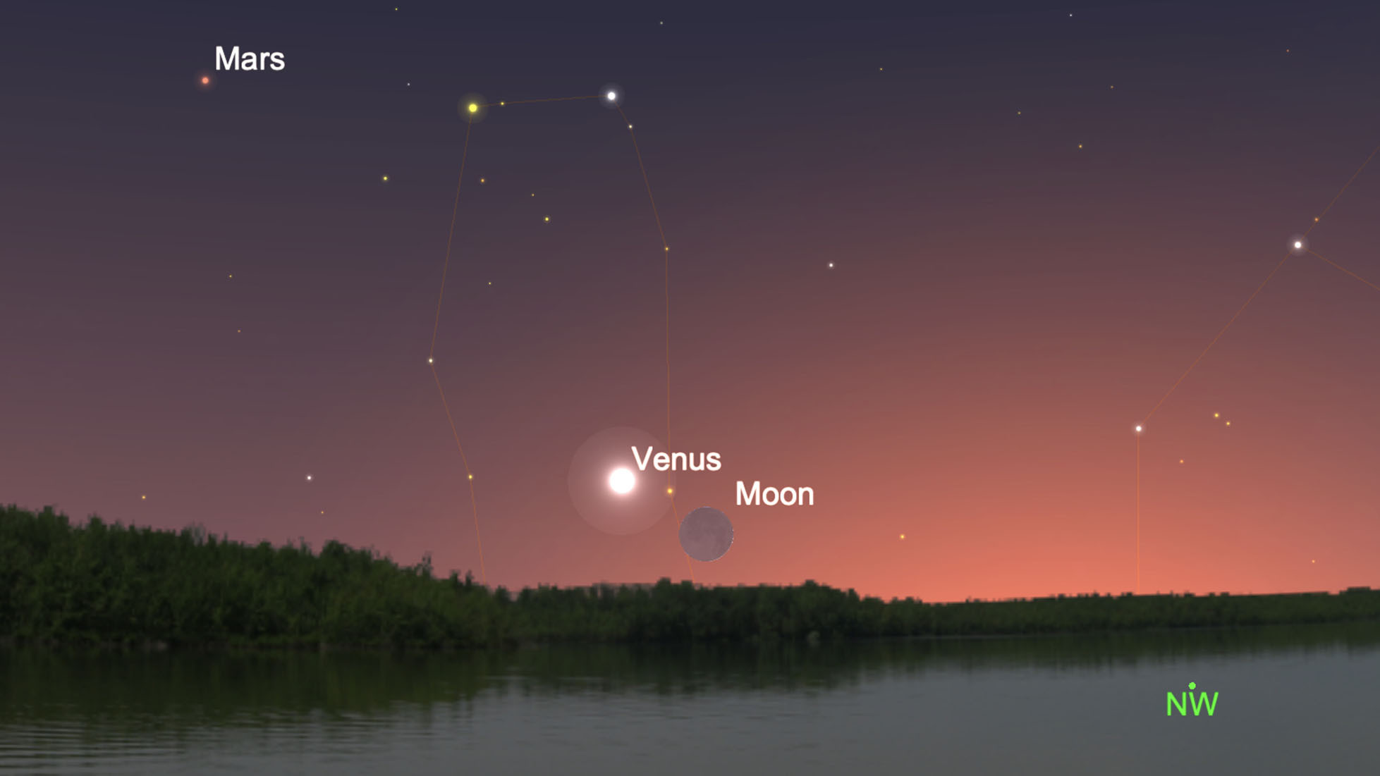 Venus and the moon will shine bright in the night sky tonight thumbnail