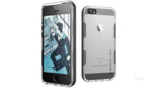 ghostek cloak iphone se aluminium tough case clear red users