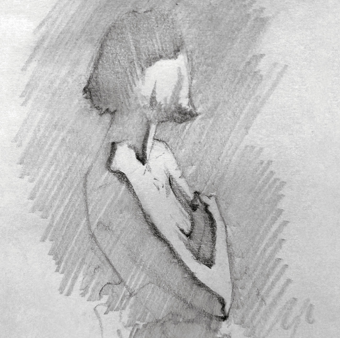 drawing of a person