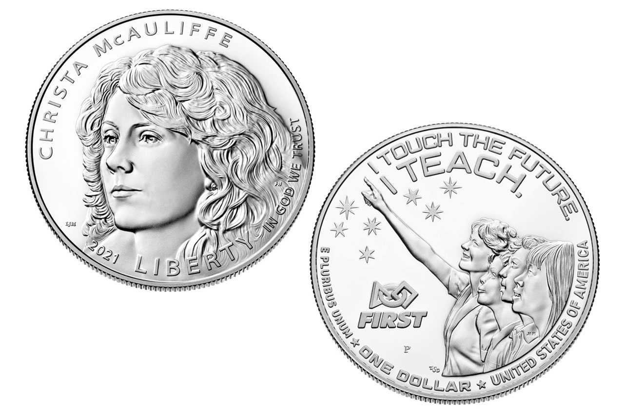 US Mint marks 35 years since Challenger with'Teacher in Space' coin thumbnail