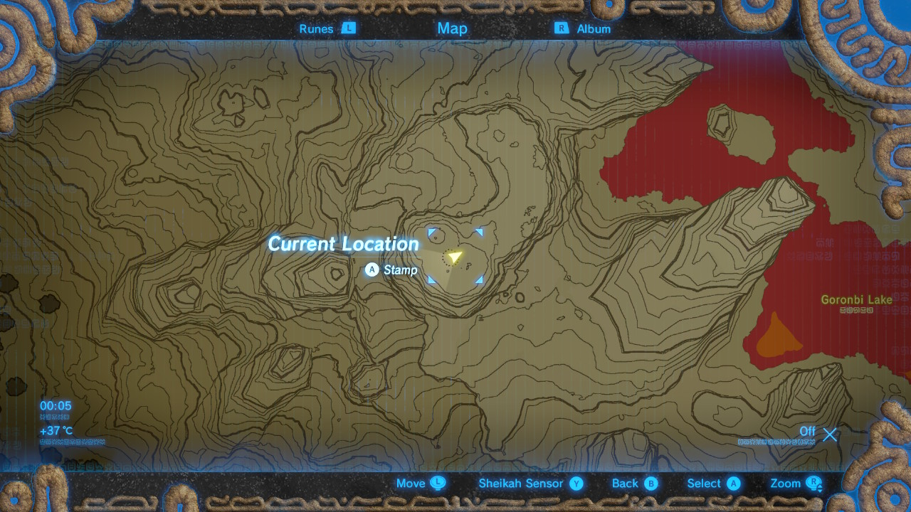 The legend of zelda breath of the wild captured memories select map to view full size gumiabroncs Choice Image