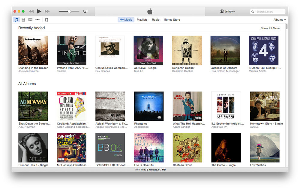 UI fails: iTunes