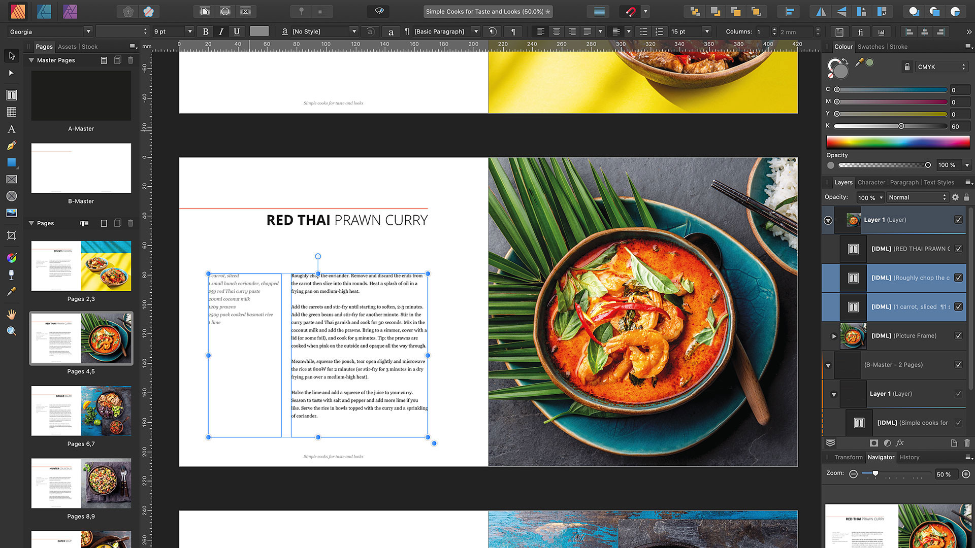 Affinity Publisher IDML import