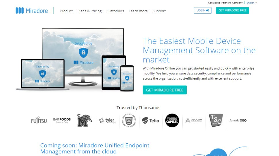 Miradore Online - Excellent BYOD management for SMBs