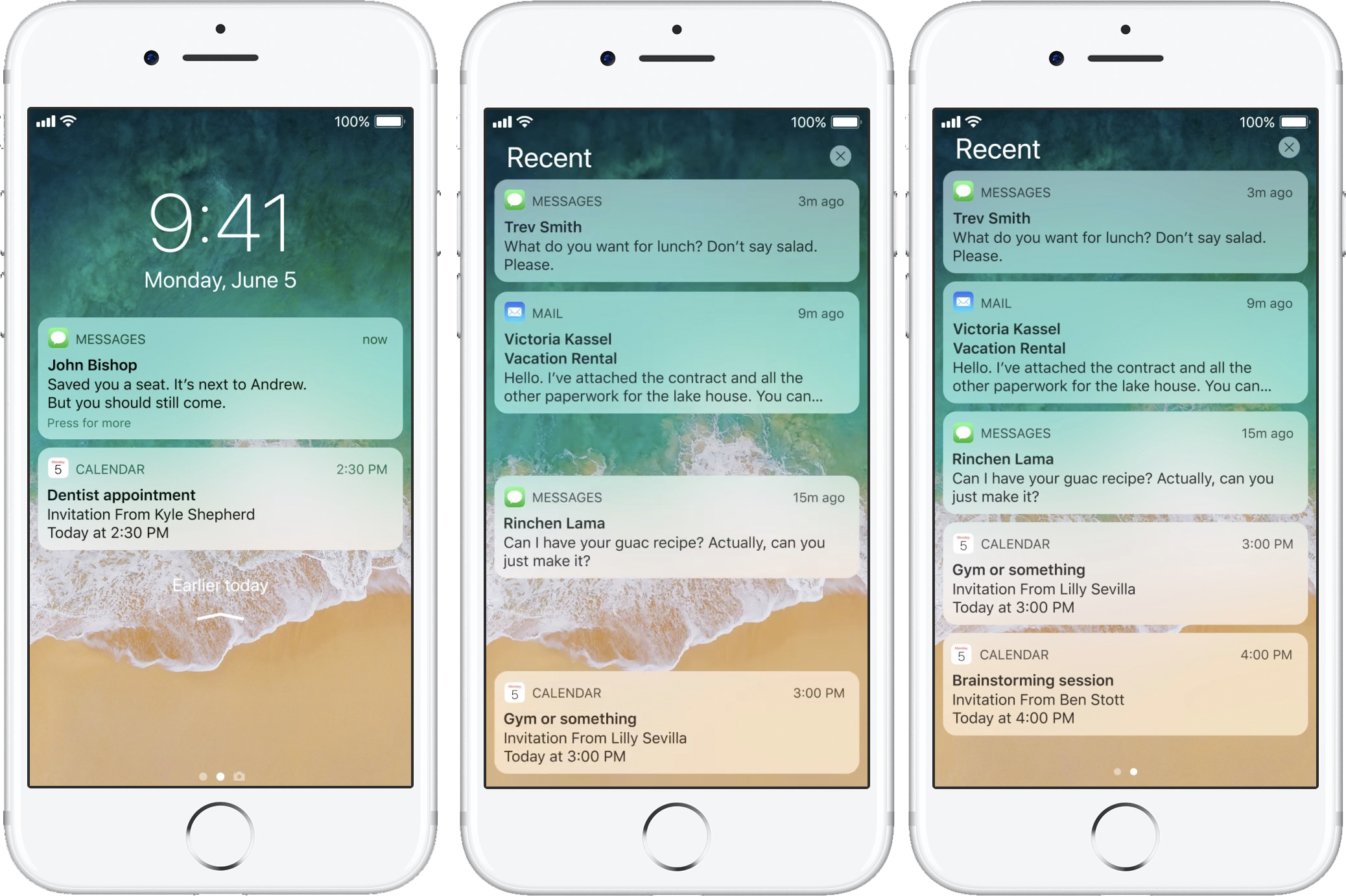 Lock screen notifications and notification center are joining forces in iOS  11, and that makes it easier to see which older alerts you've missed.