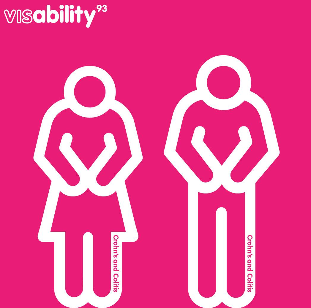 disability icon set: C: Crohn's and Colitus