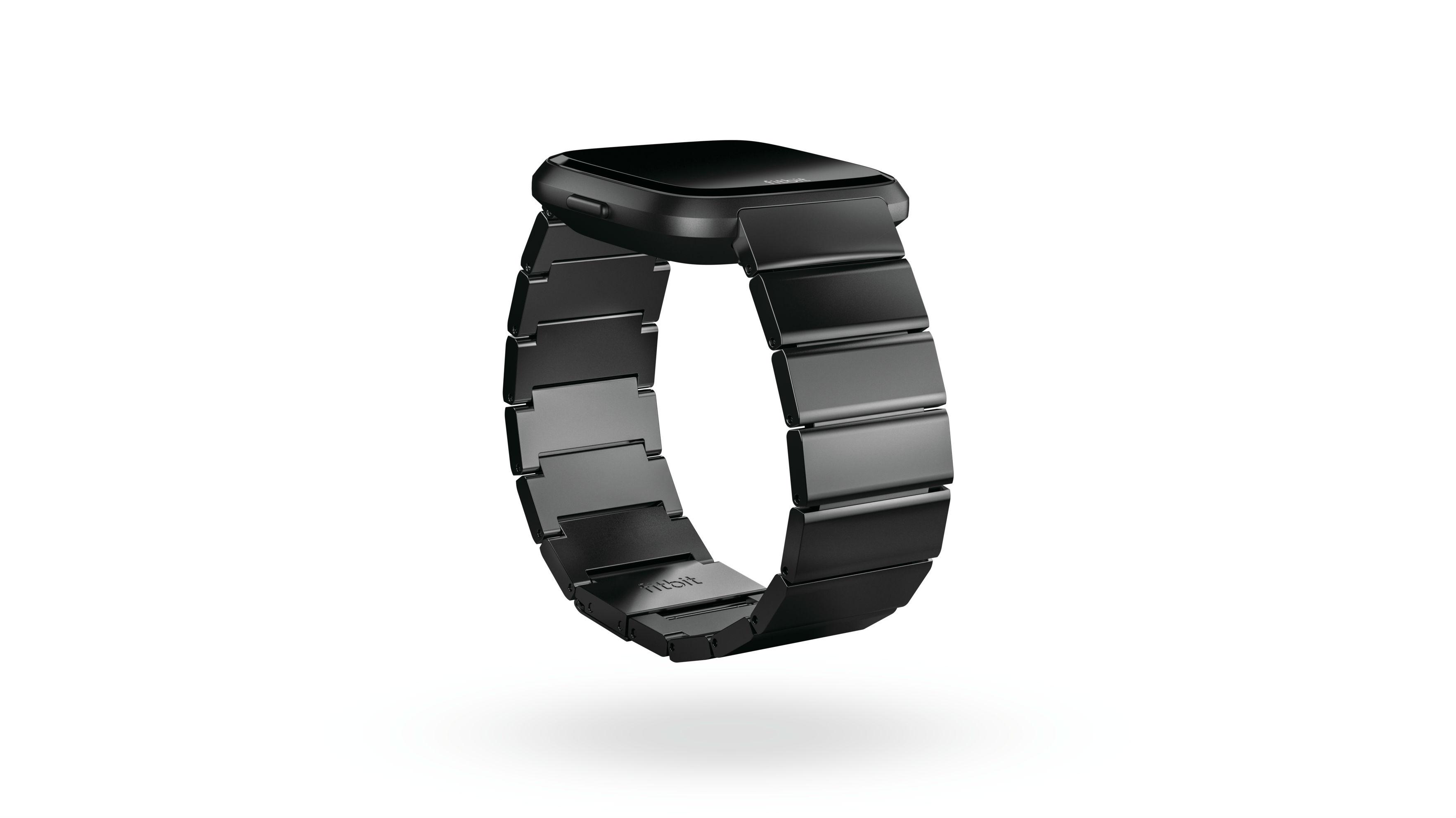 Fitbit Versa enlaces metal negro
