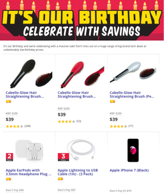 Dick Smith celebrates one year of being online with massive sale