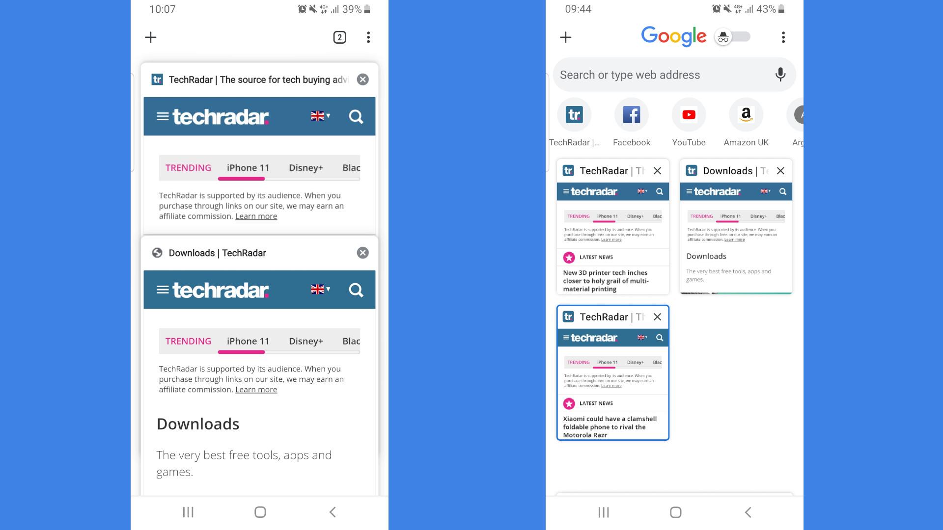 Google Chrome tab switcher