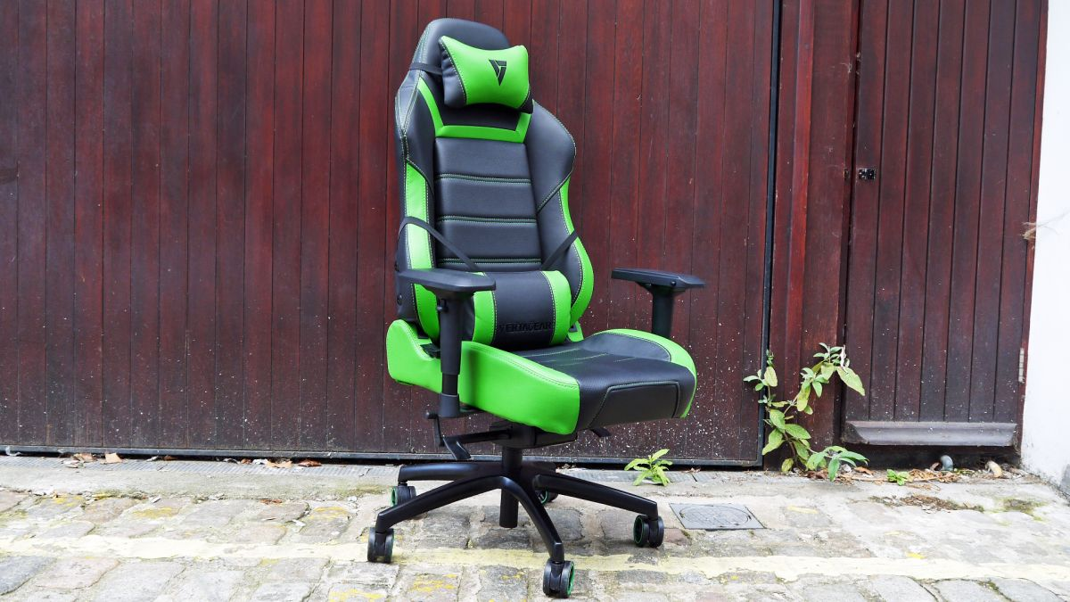 Giantex PU Leather Ergonomic Gaming Chairs Modern Midback