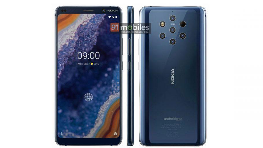 CceJLJZNTiVUMF3PDpJd2W - Nokia 9 renders suggest no notch, bigger battery