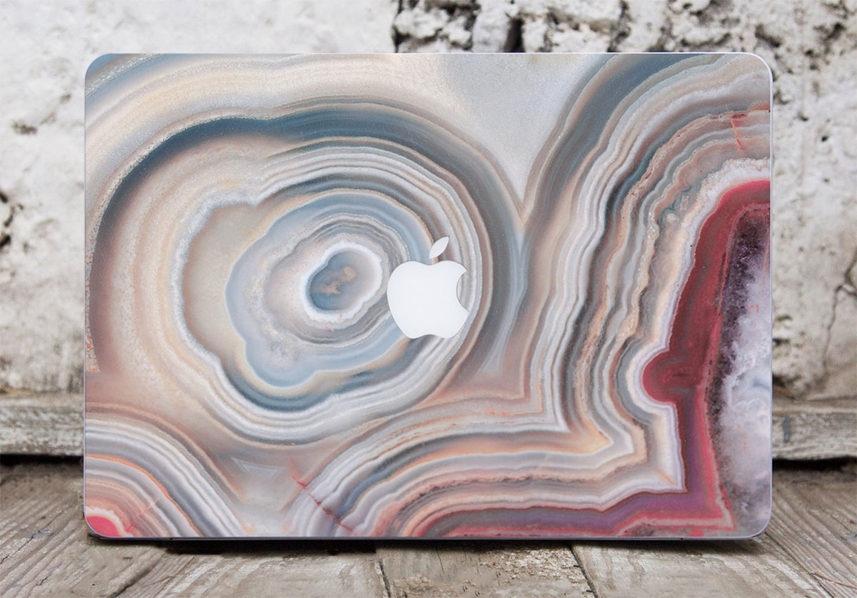 Cream Marble MacBook decal