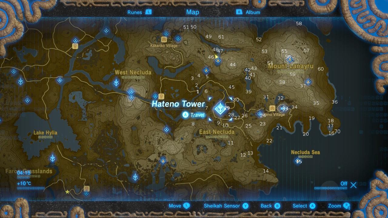 Hateno Tower The Legend Of Zelda Breath Of The Wild Korok Seeds Locations Guide Gamesradar