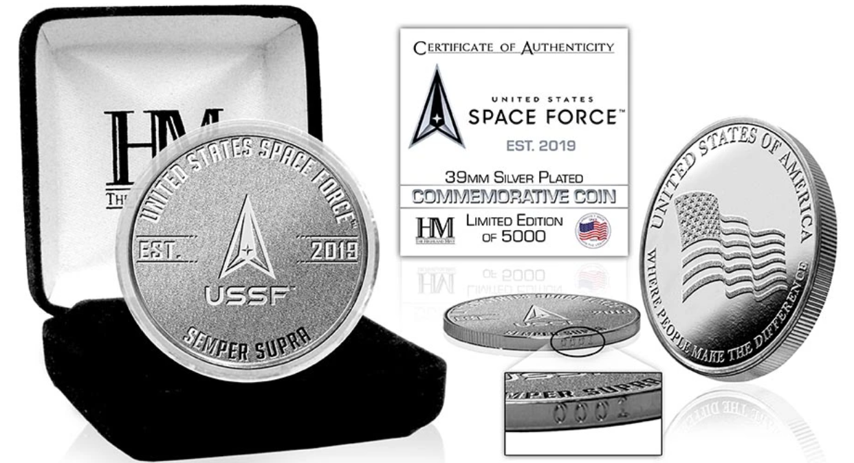 We're giving away a commemorative US Space Force silver coin!