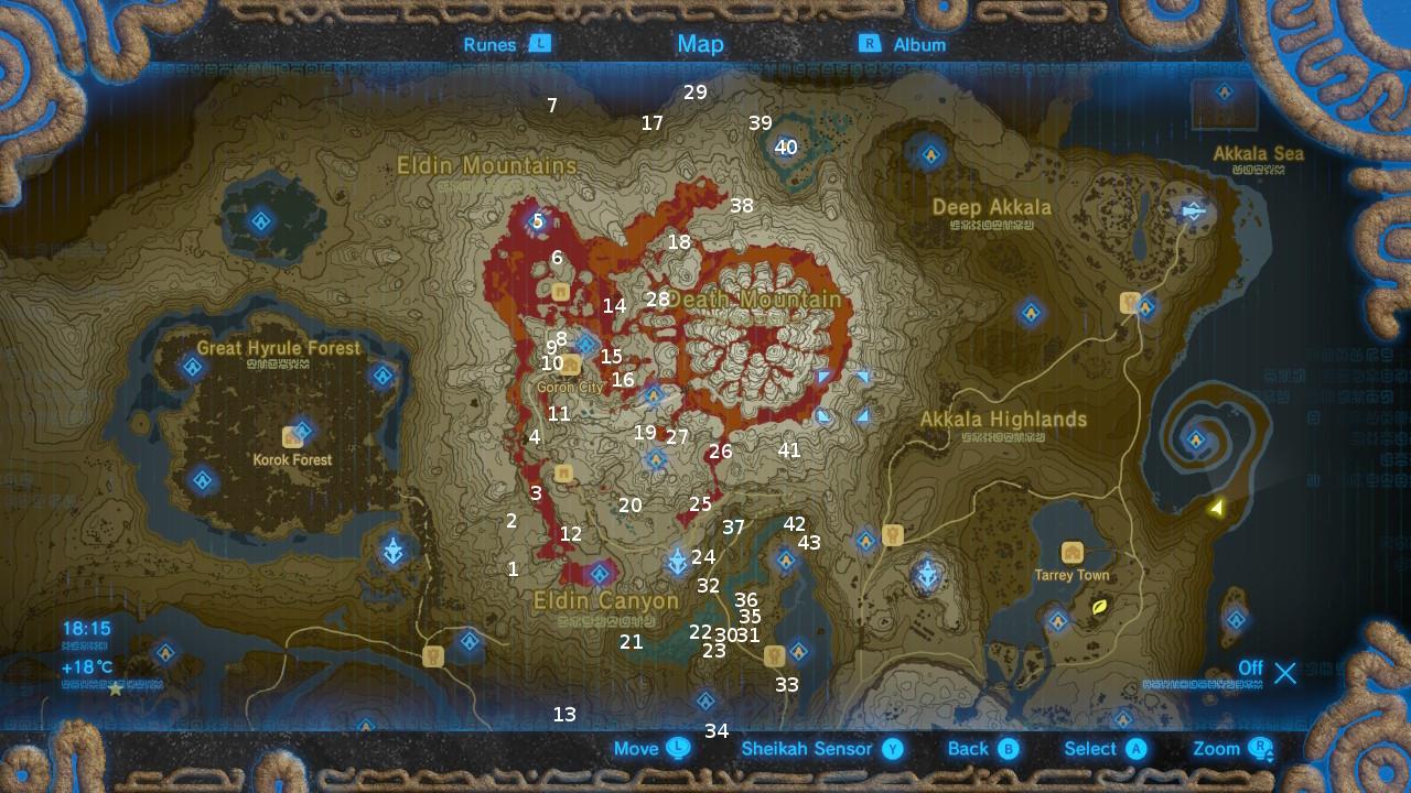 Eldin Tower The Legend Of Zelda Breath Of The Wild Korok Seeds Locations Guide Gamesradar