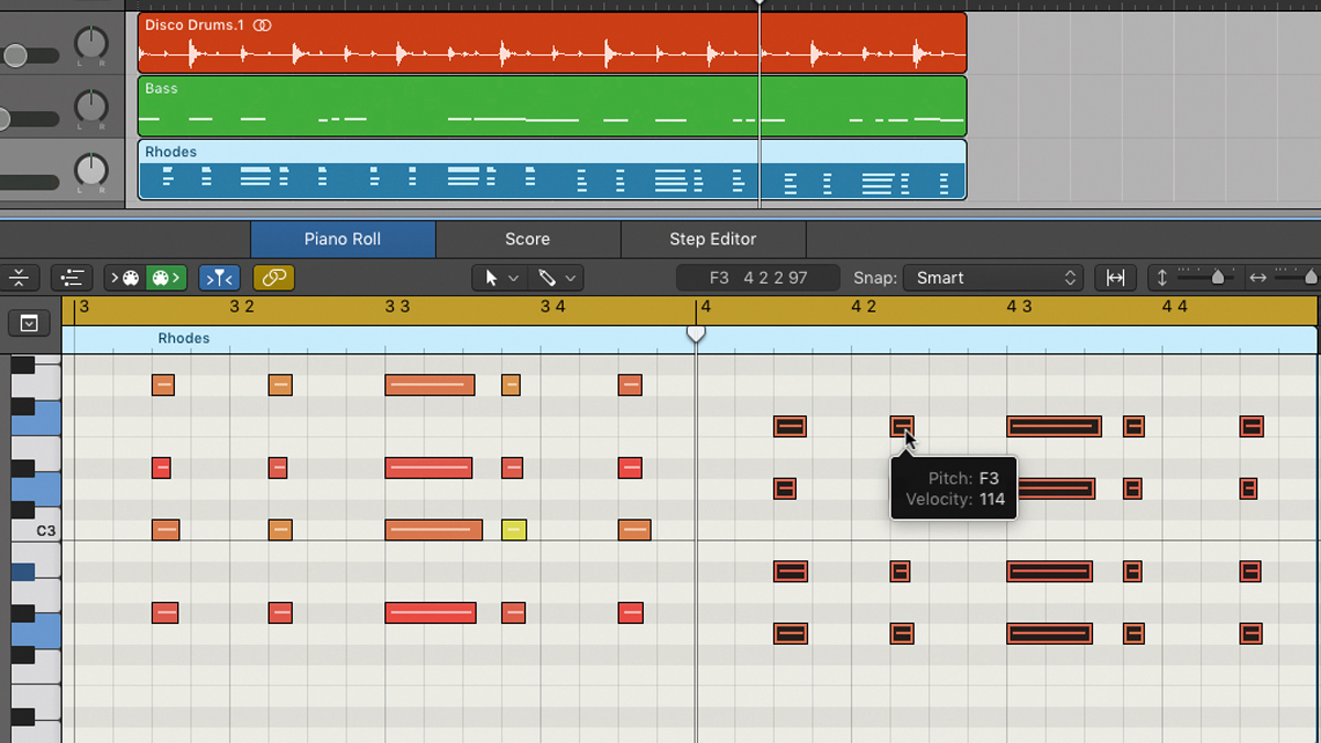 How to use disco style major and minor seventh chords musicradar hexwebz Gallery