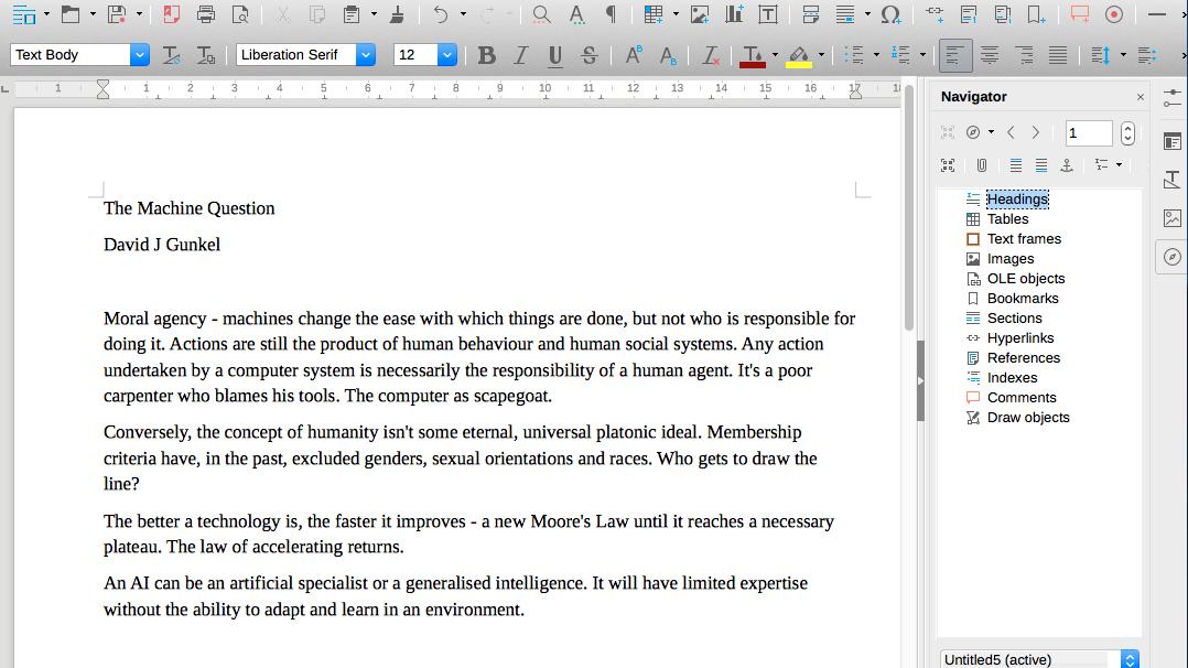 LibreOffice Writer screen grab