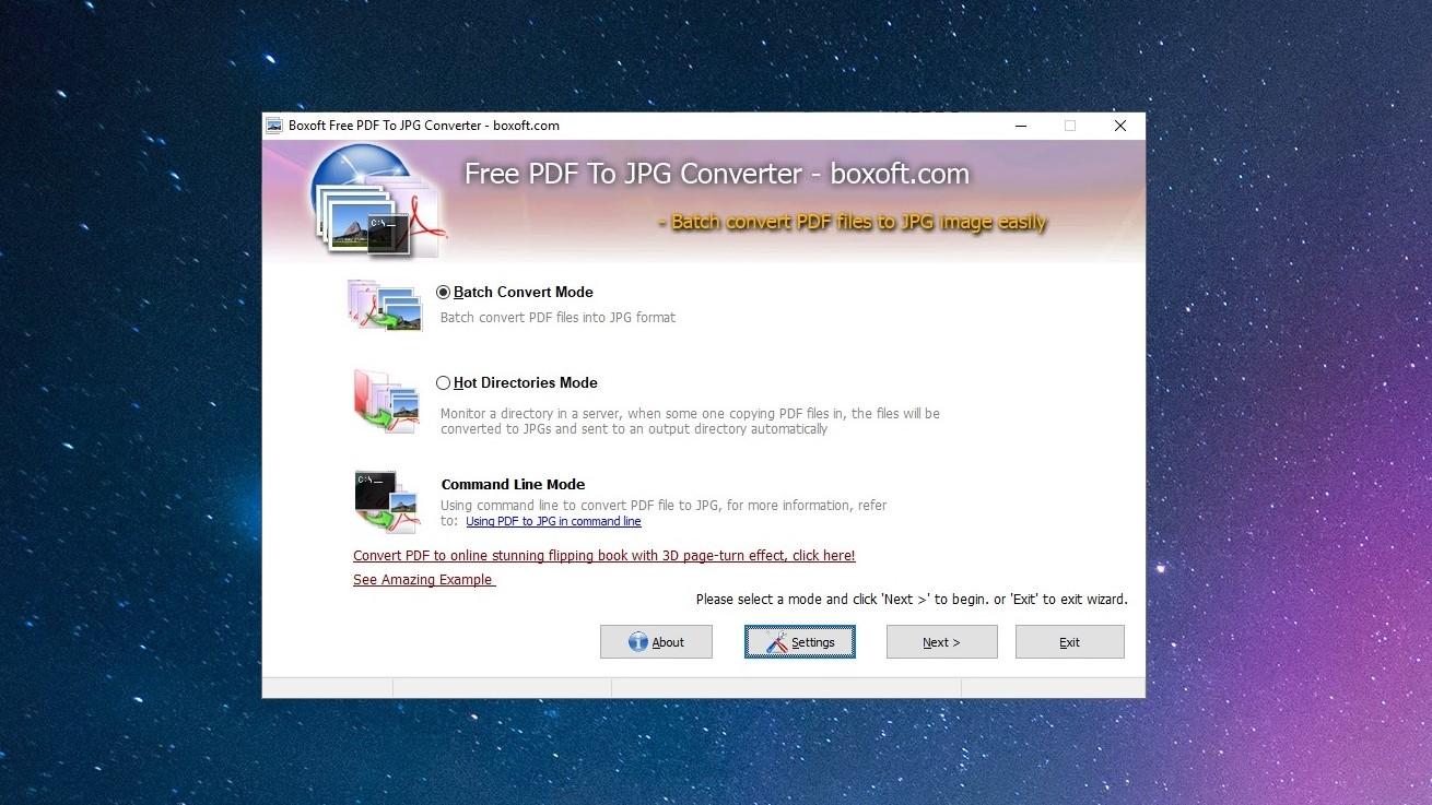 Boxoft PDF To JPG Converter