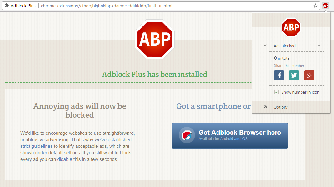AdBlock Plus screen grab