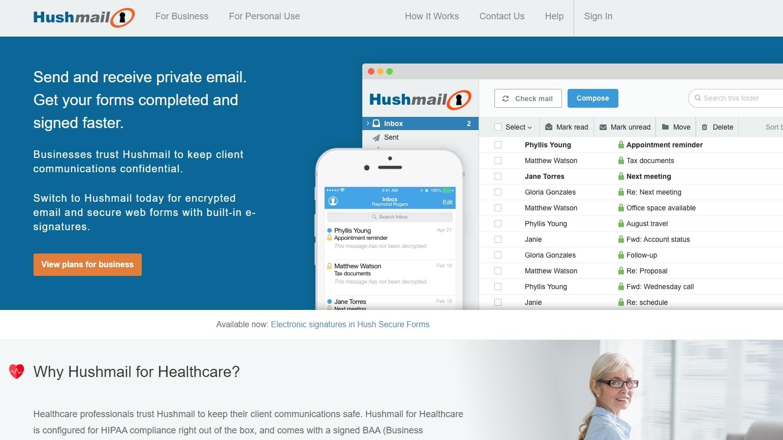 Hushmail Gmail Alternative Email Service Provider