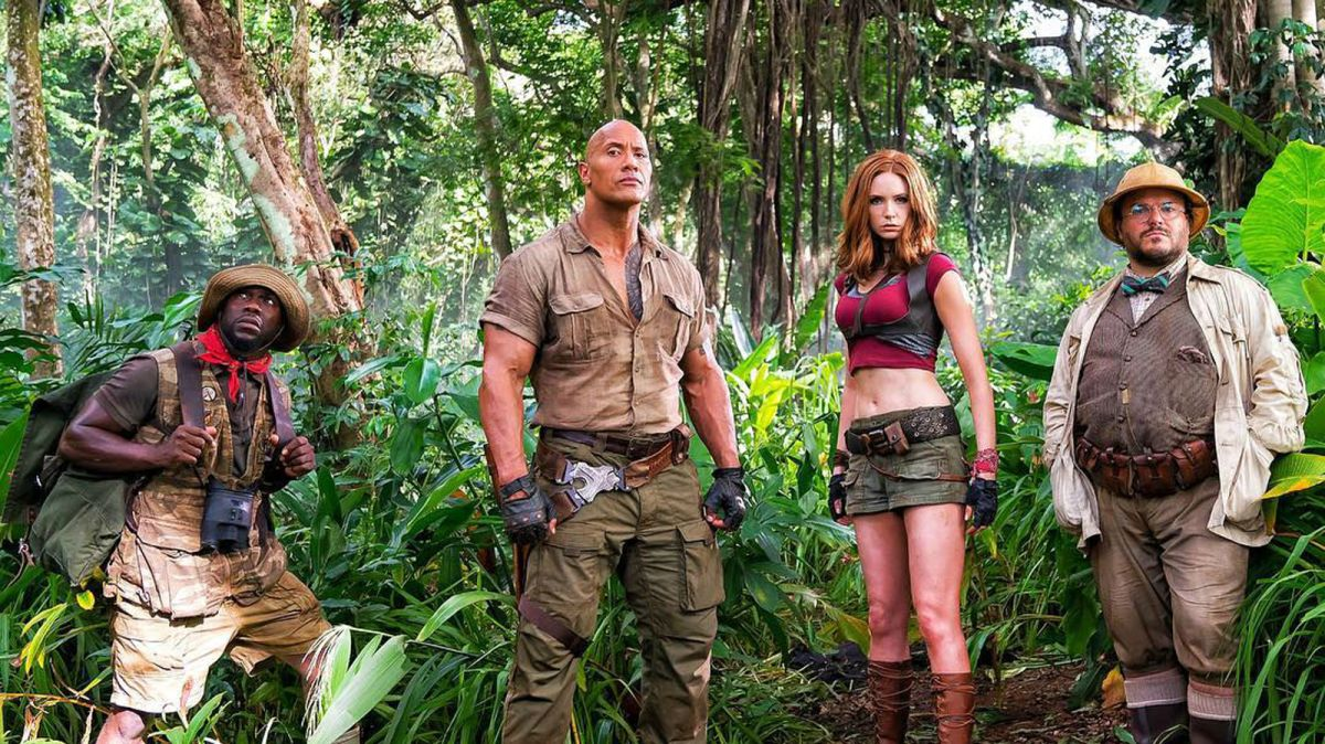 First Jumanji set photo has The Rock and co-stars ready for an adventure