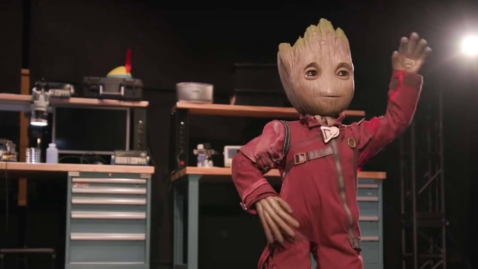 Disney imagineers reveal new robotic 'Baby Groot' in new video thumbnail