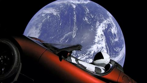 Image result for musk car in space