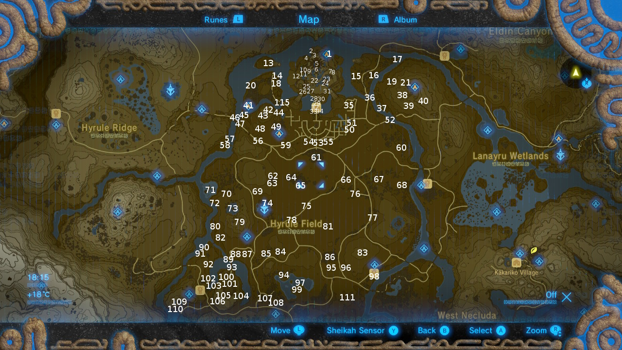 Central Tower The Legend Of Zelda Breath Of The Wild Korok Seeds Locations Guide Gamesradar