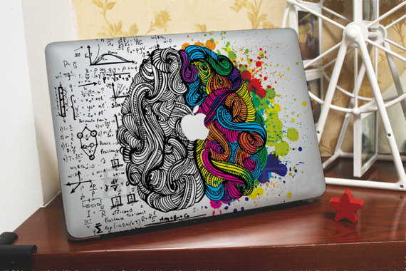 Creative Brain MacBook decal