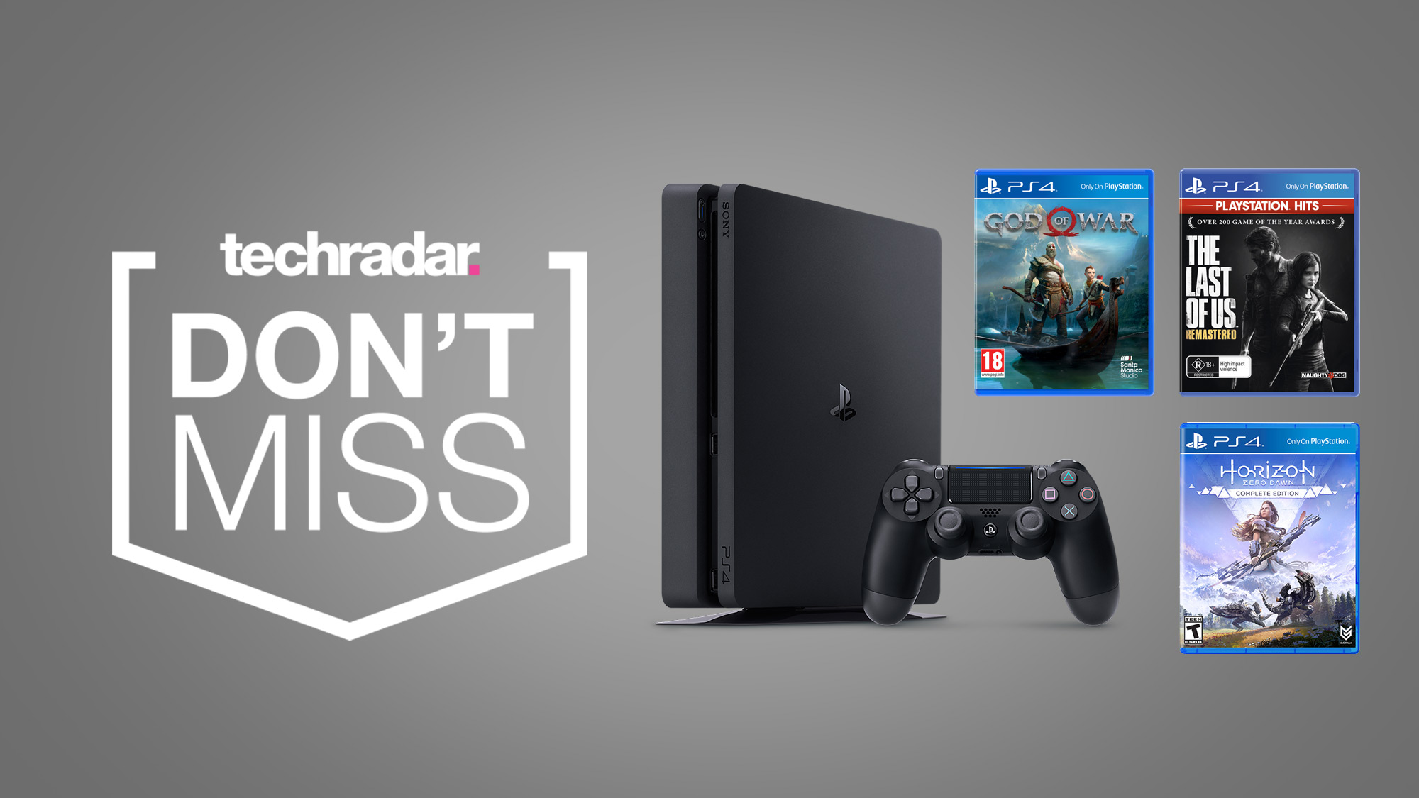 This cheap PS4 bundle deal includes three of PlayStation's biggest hits for free