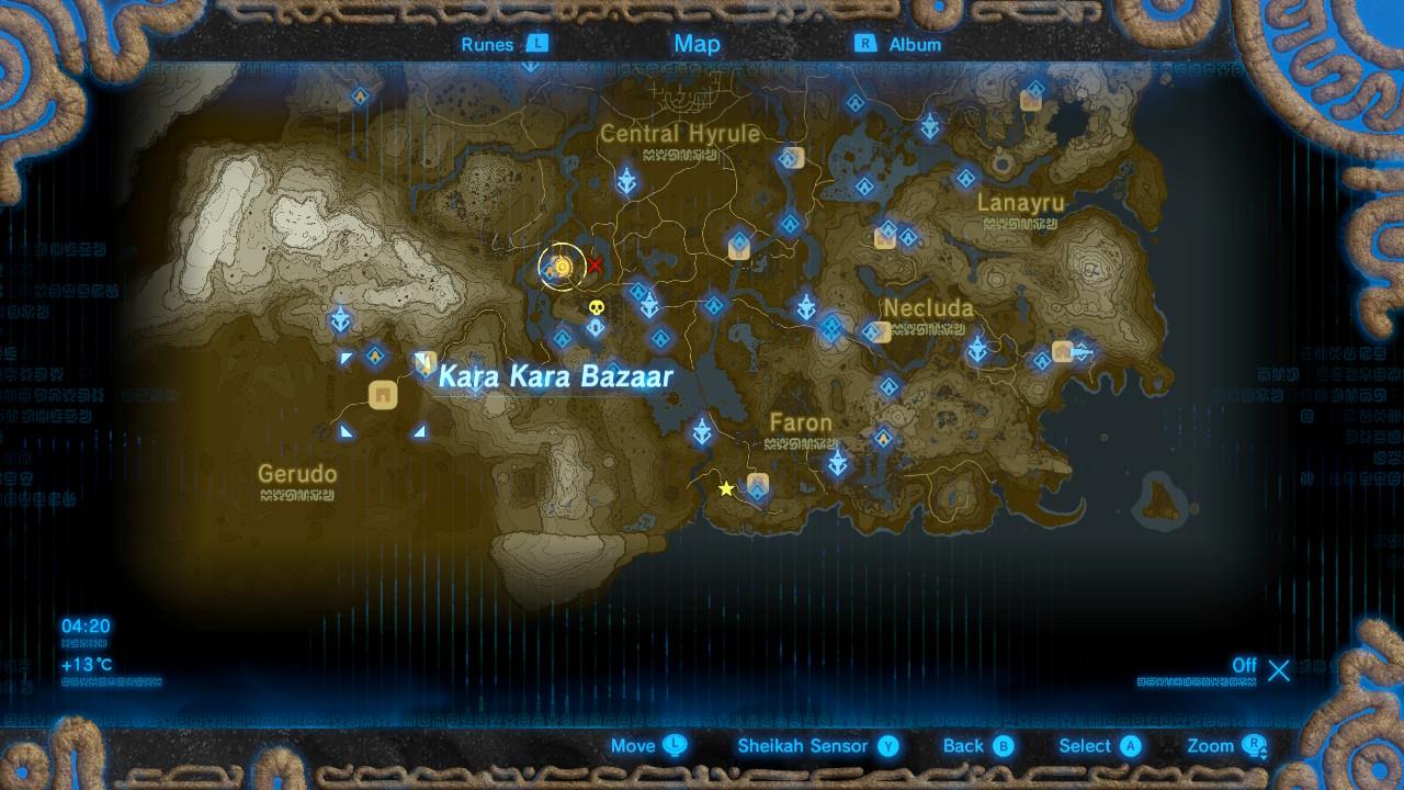 The Legend of Zelda: Breath of the Wild Captured Memories locations ...