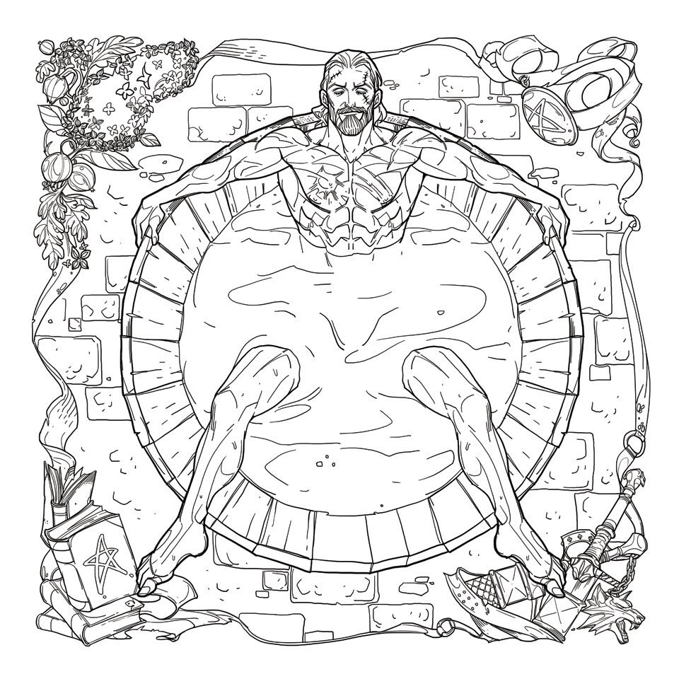 Coloring book for adults for pc - The Witcher Is Getting A Coloring Book For Adults And It Features Geralt In The Bath Pc Gamer