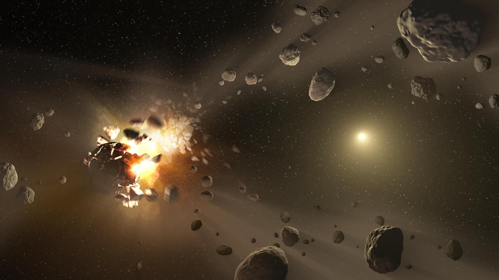 Researcher want to 'slice and dice' deadly asteroids with rocket-powered bombs, new paper says