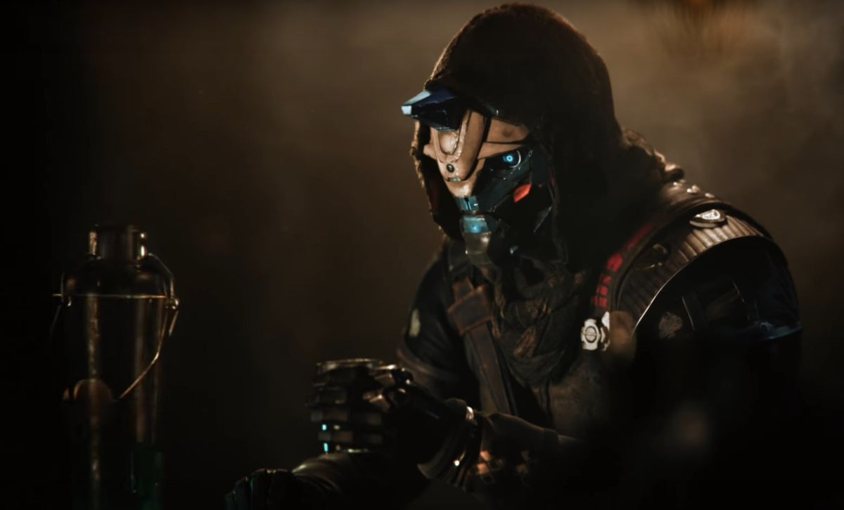 The first Destiny 2 'Last Call' teaser video features Nathan Fillion telling tall tales