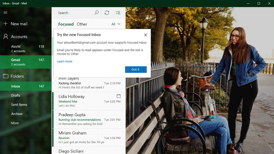 The Windows 10 Mail app now works better with Gmail