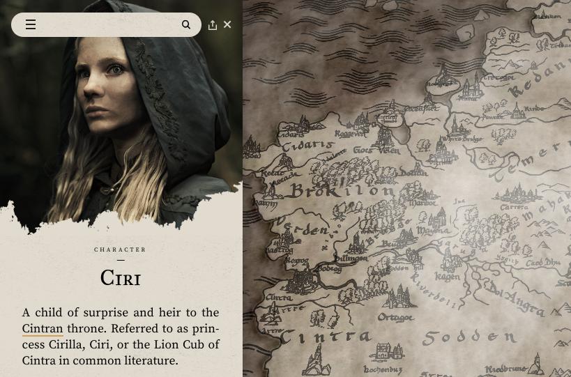 Witcher website
