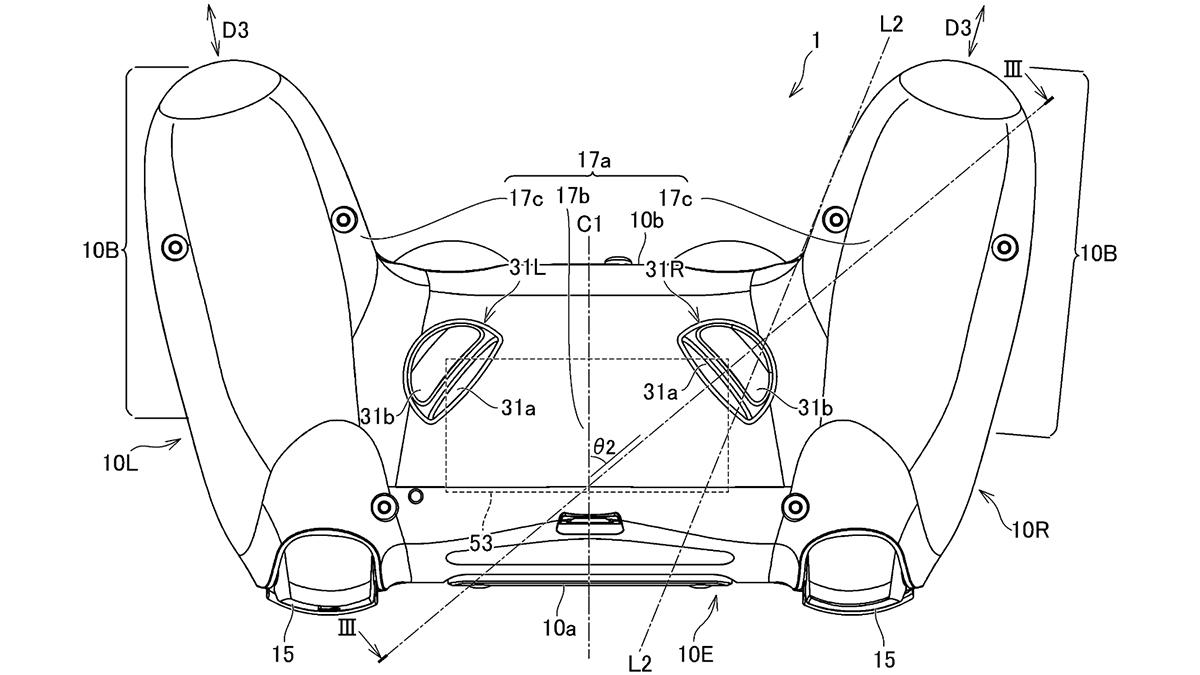 PS5 DualShock controller patent
