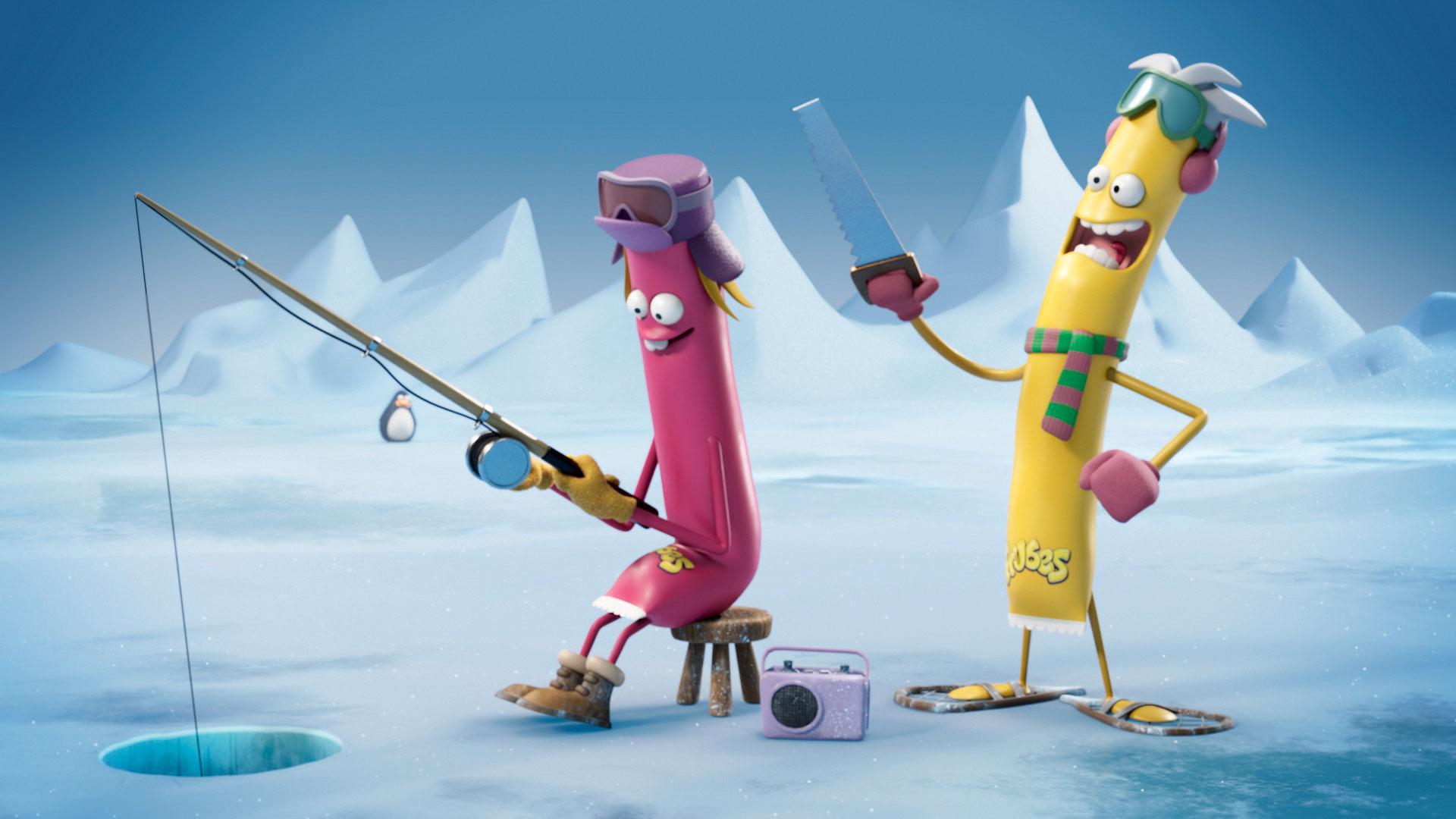 Frubes on ice